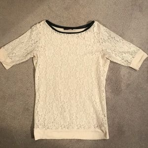 The Limited Cream Top with Black Trim